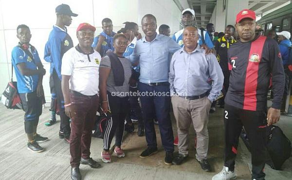 PHOTOS: Kariobangi Sharks arrive ahead of Asante Kotoko Caf Confederation Cup showdown