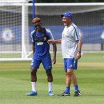 Chelsea boss Maurizio Sarri tells youngster Callum Hudson-Odoi to improve defensive work rate