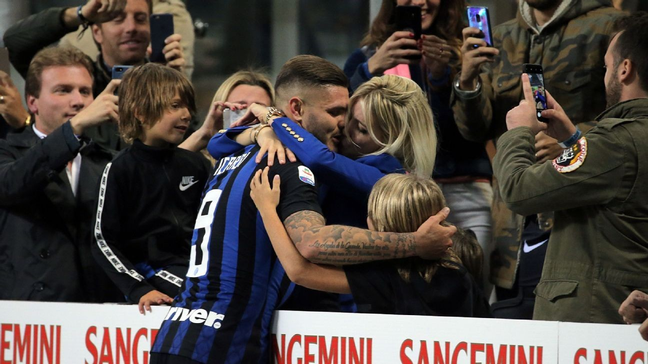 Inter Milan's Mauro Icardi backs wife to remain his agent: 'It'll always be Wanda'