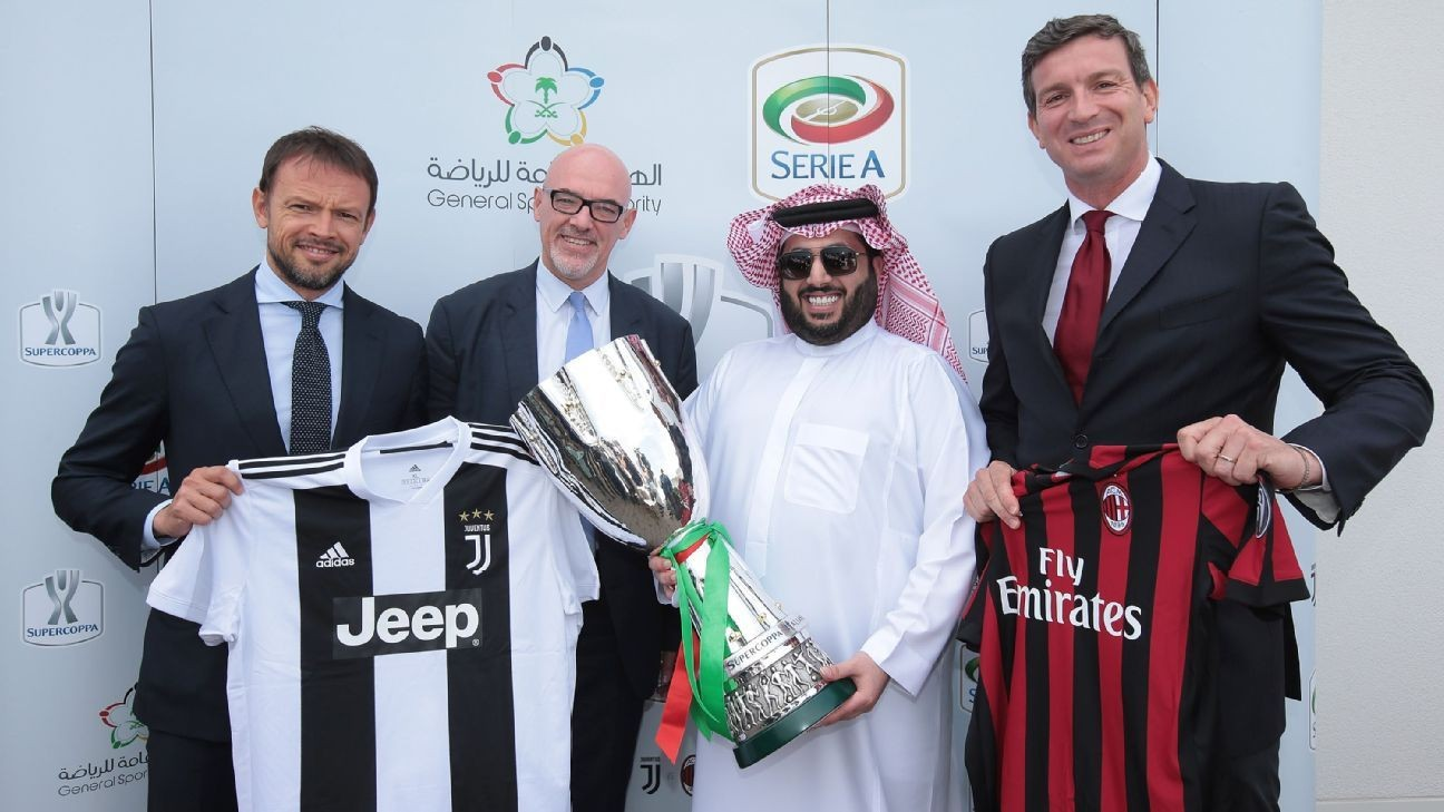 Serie A defends 'men only' sections for Juventus vs. Milan Supercoppa final in Saudi Arabia