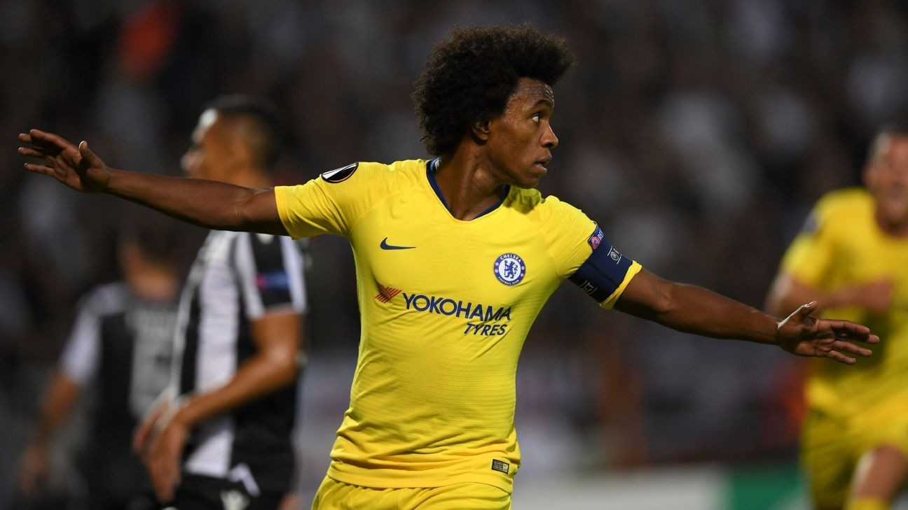 Chelsea reluctant to part with Willian amid Barcelona links - source