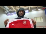 Ainsley Maitland-Niles visits the NBA's Washington Wizards