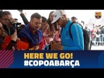 Trip to Sevilla with Boateng ahead of the cup match
