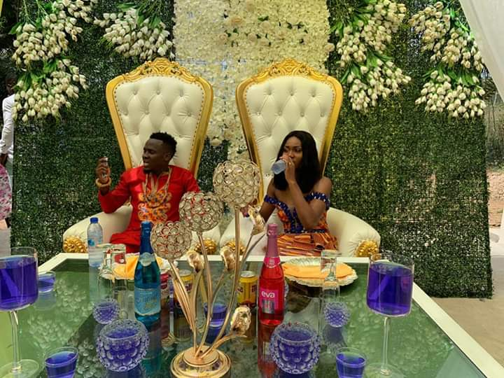 PHOTOS: Black Stars forward David Accam ties knot with Black Queens striker Florence Dadson