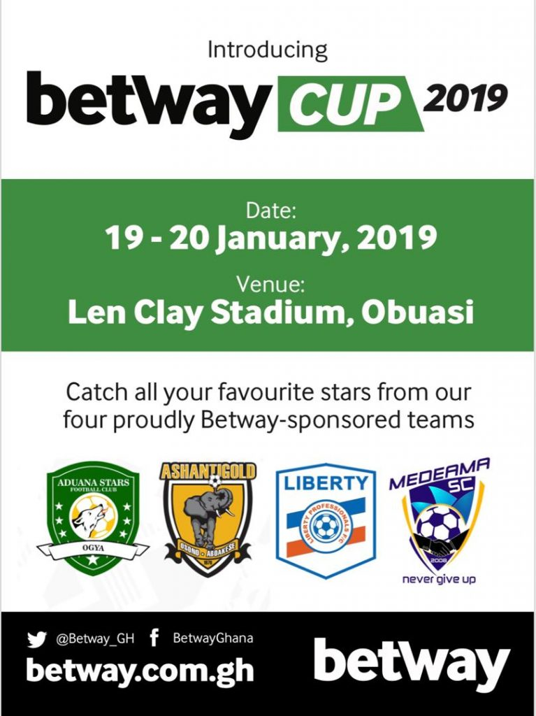 Four Ghana Premier League clubs square off in the Betway cup