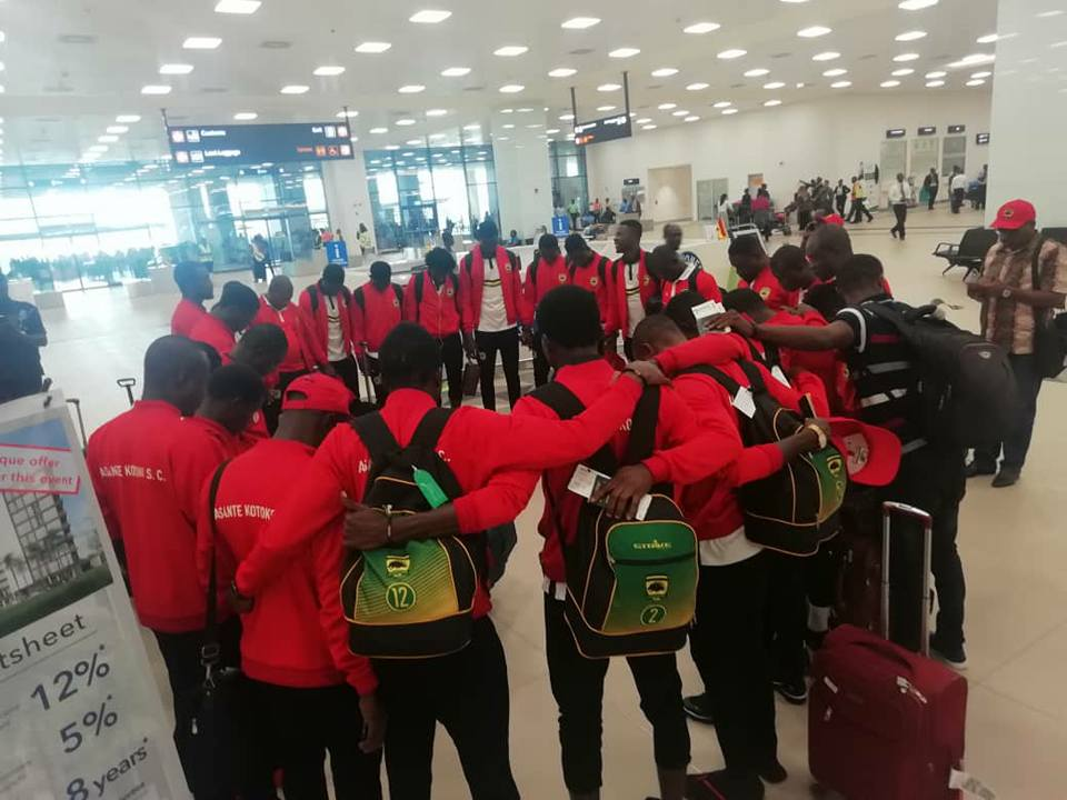 Asante Kotoko return from Cameroon after big win over Coton Sport