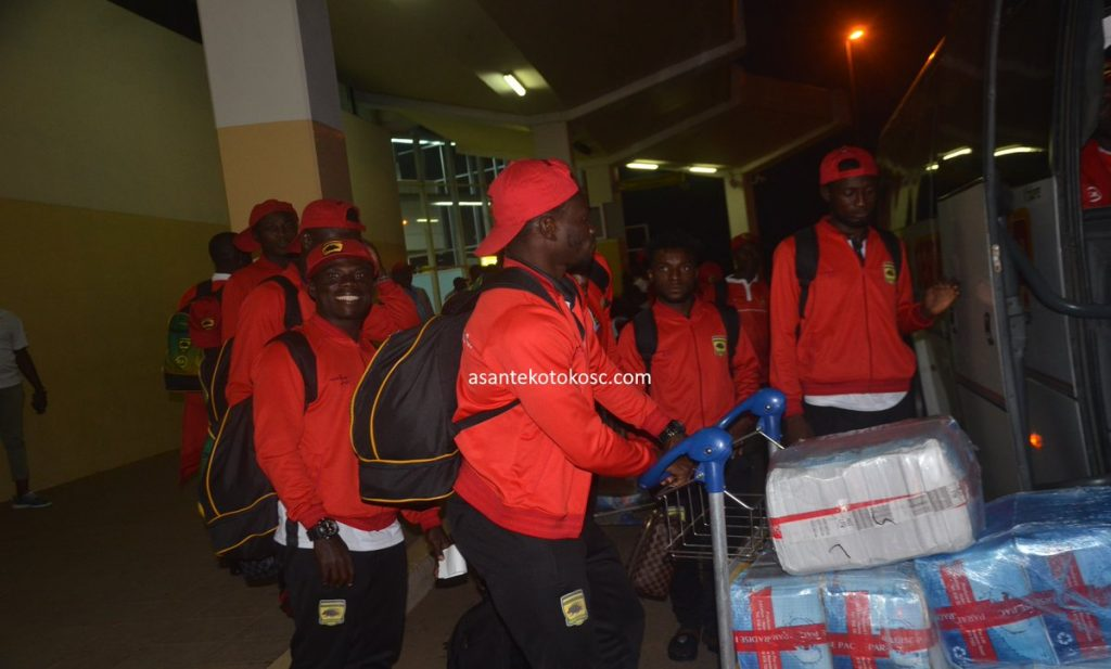 CAF Confederation Cup: Asante Kotoko contingent arrive in Yaounde ahead of Coton Sport showdown