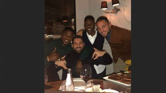 Kwadwo Asamoah and Inter Milan teammates attend dinner after Italian Cup win over Benevento