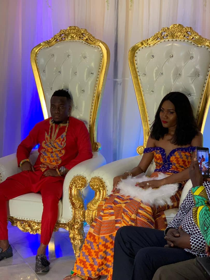 HISTORIC: Black Stars striker David Accam weds Black Queens striker Florence Dadson