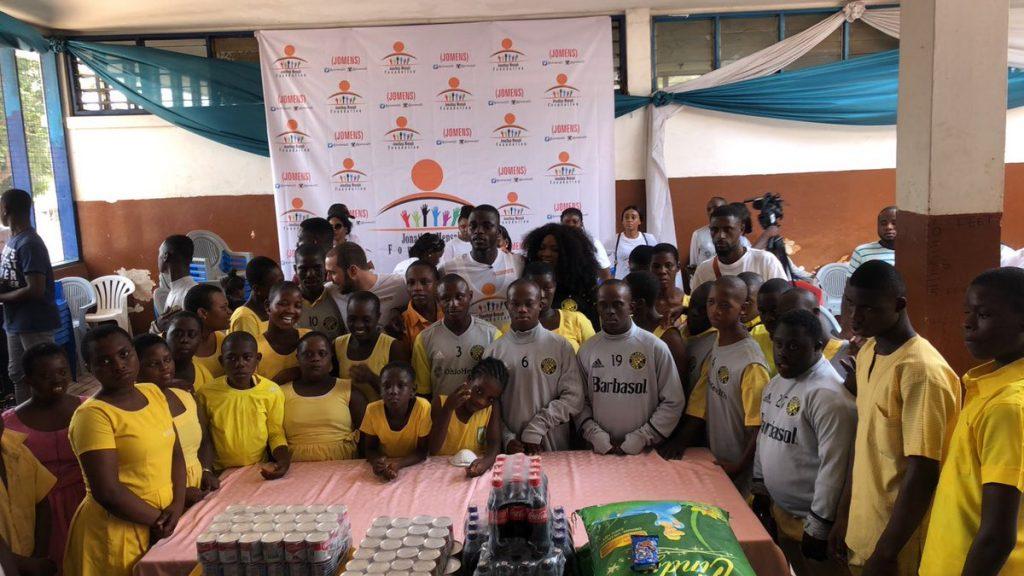 Jonathan Mensah Foundation donates to Dzorwulu Special School