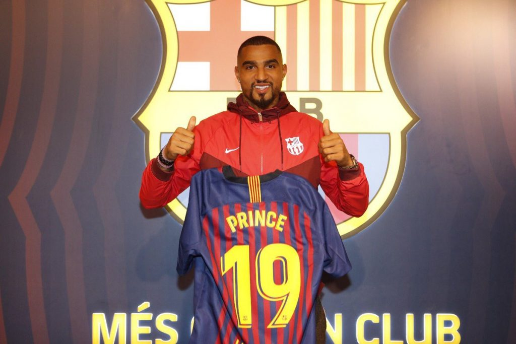 Kevin-Prince Boateng to wear number 19 shirt at new club Barcelona
