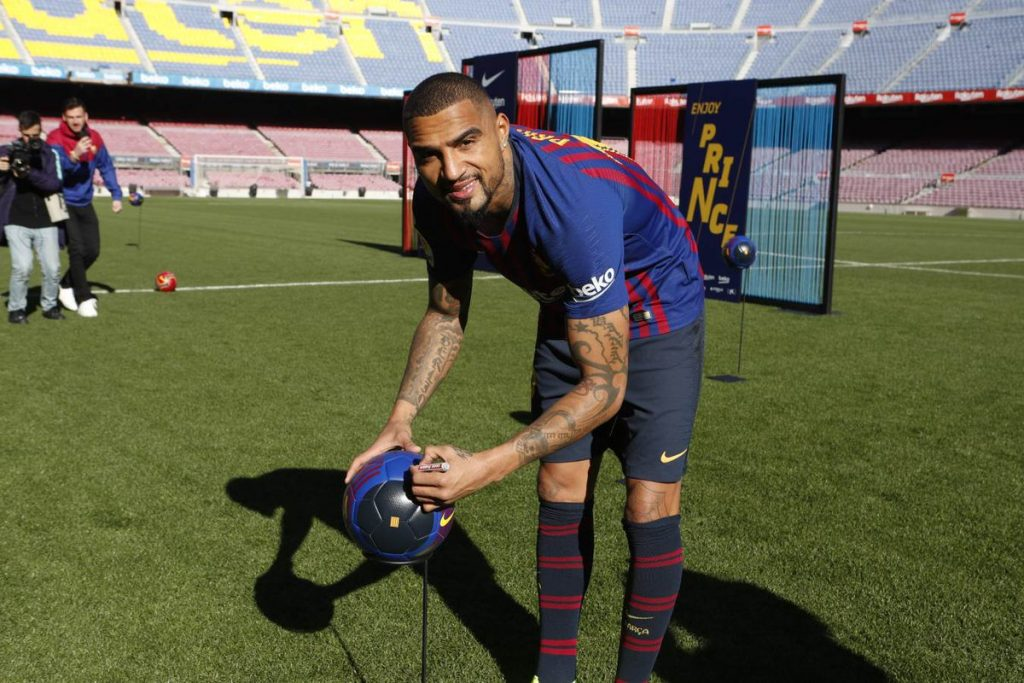 Kevin-Prince Boateng presented by Barcelona