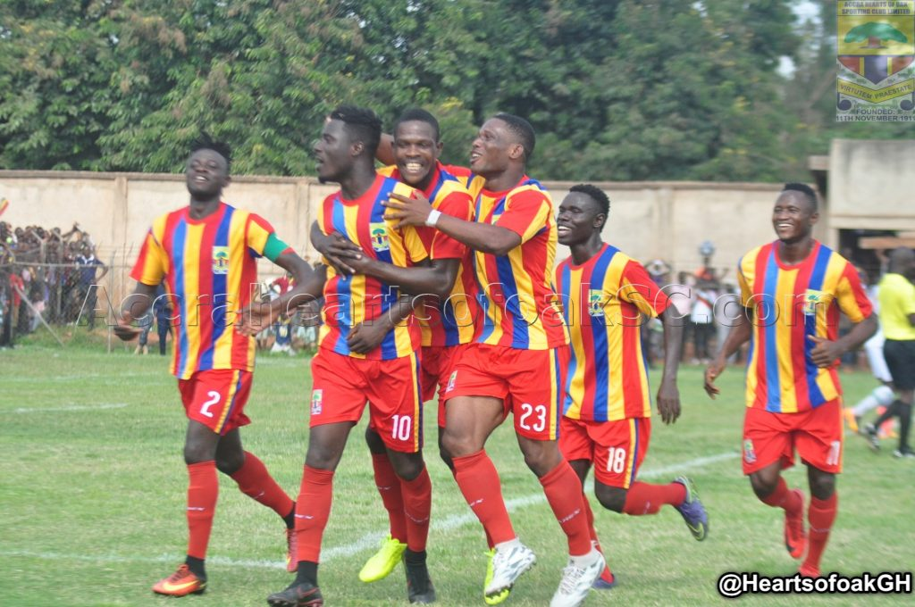Hearts of Oak draw 1-1 with Pacifici Heroes in friendly