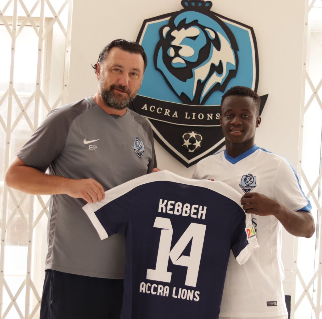 Top Gambian talent Kebbeh signs for Division One League side Accra Lions FC