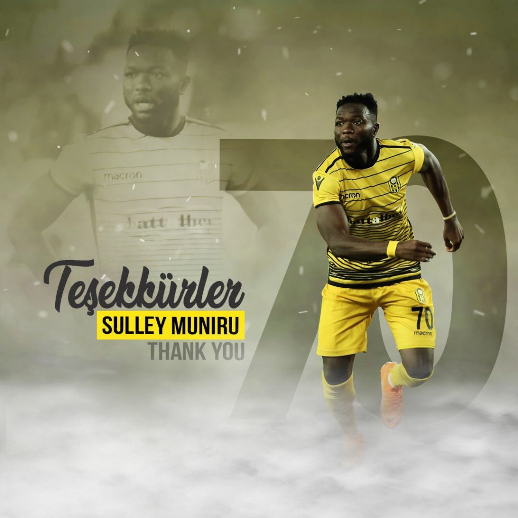 Sulley Muntari's kid brother Muniru terminates contract with Turkish Super Lig side Yeni Malatyaspor