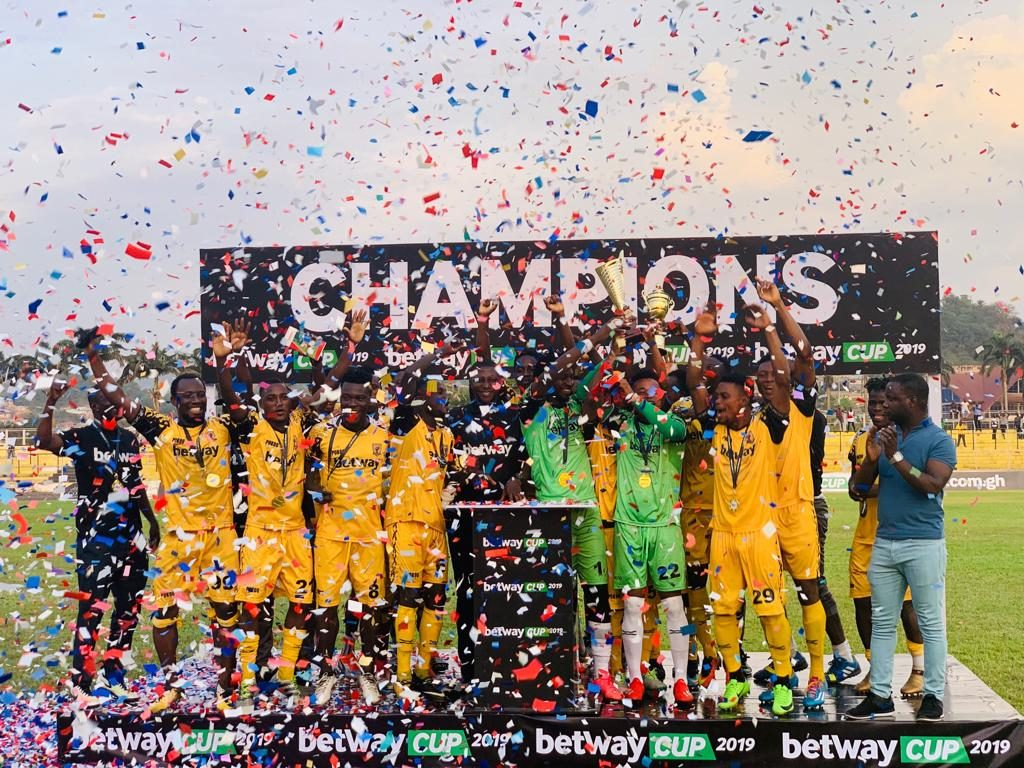 Betway Cup 2019: AshantiGold thrash Medeama in final to lift trophy