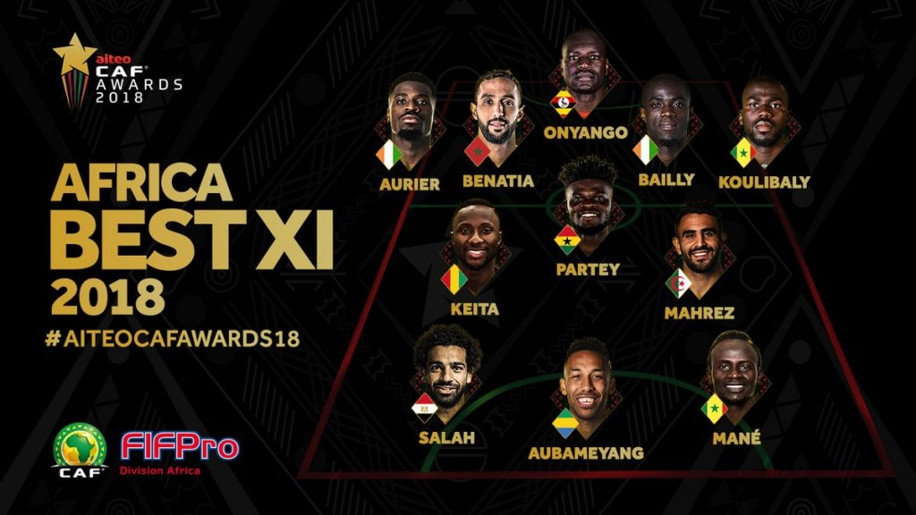 Thomas Partey named in Africa Best XI at CAF awards gala