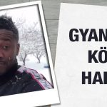 Crocked Kayserispor striker Asamoah Gyan playing with snowballs
