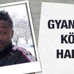 Crocked Kayserispor striker Asamoah Gyan playing with snowballs
