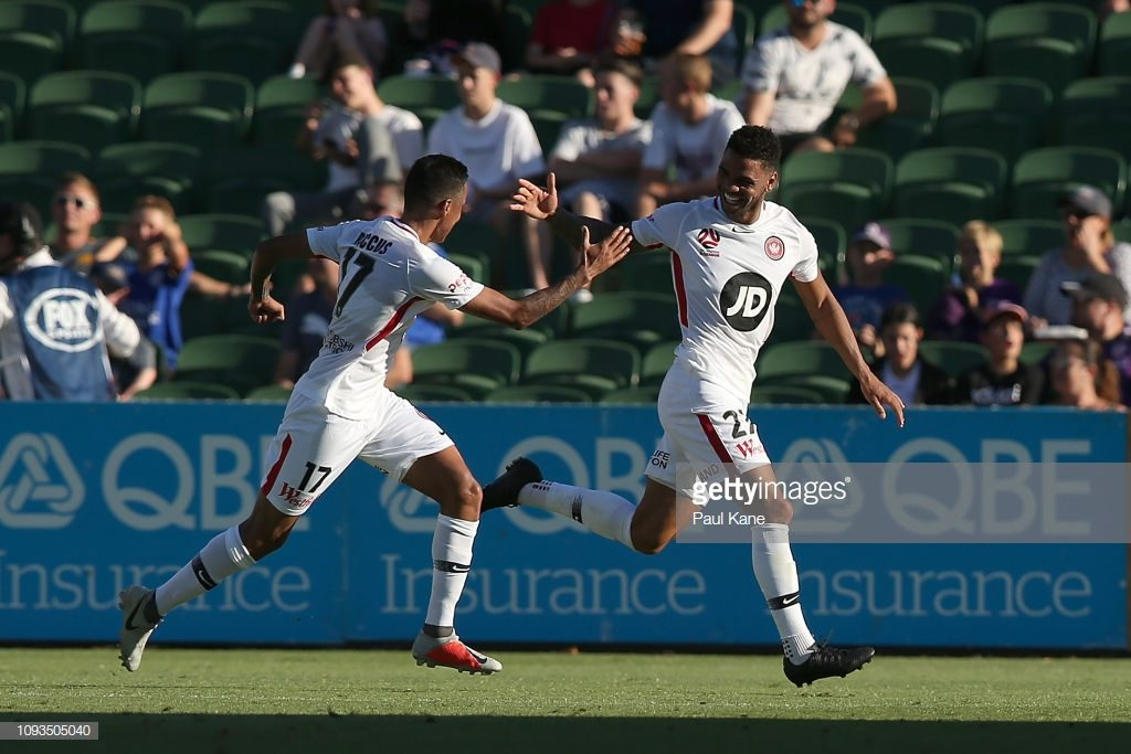 Ghanaian midfielder Kwame Yeboah scores debut goal for Western Sydney in defeat to Perth Glory in Australia