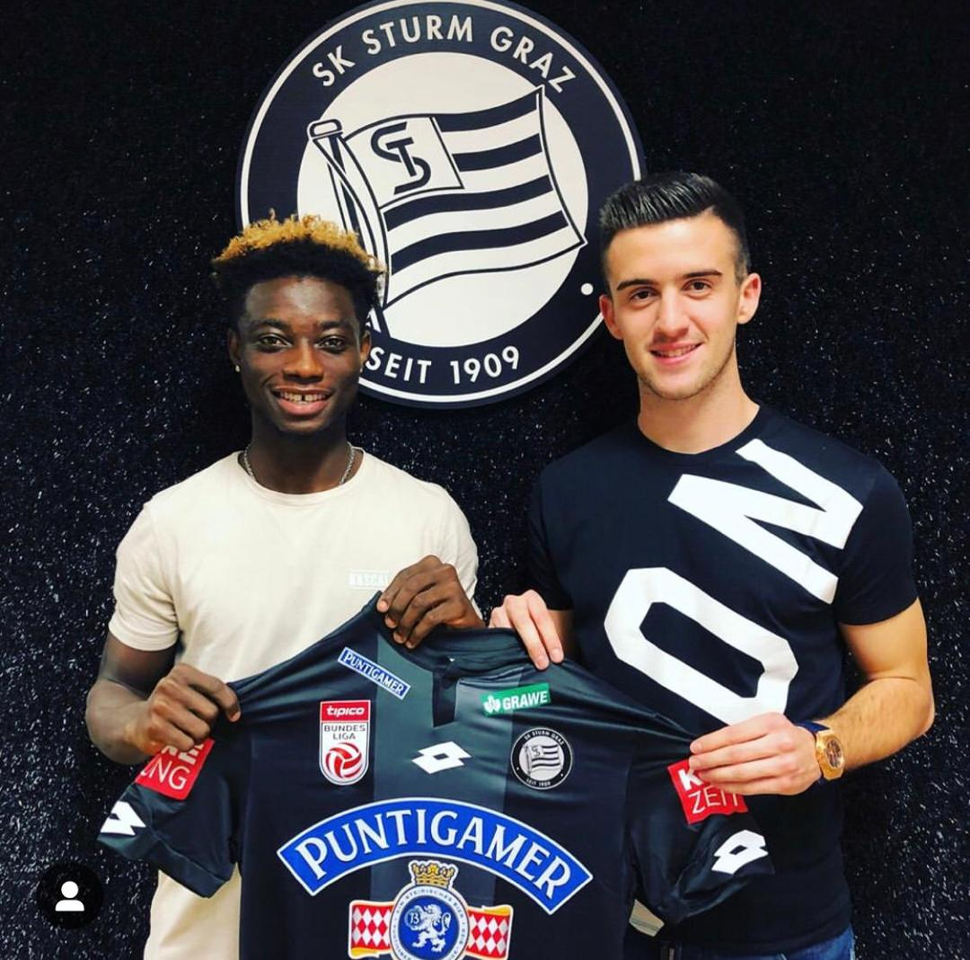 Gideon Mensah seals loan move to Austrian Top Side SK Sturm Graz