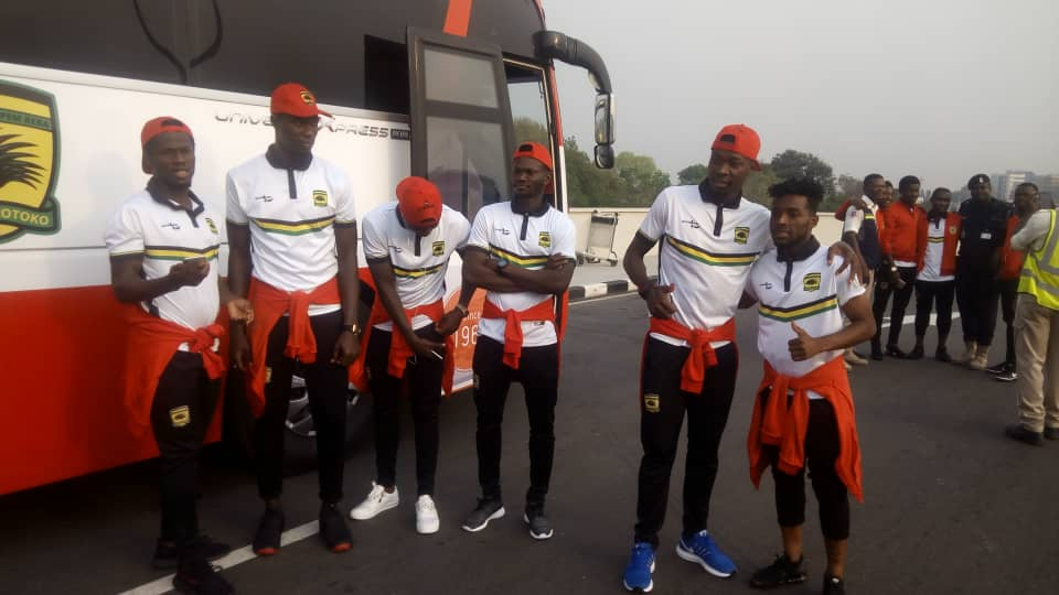 PHOTOS: Asante Kotoko set to travel to Cameroon ahead of Coton Sport CAF Confederation Cup showdown