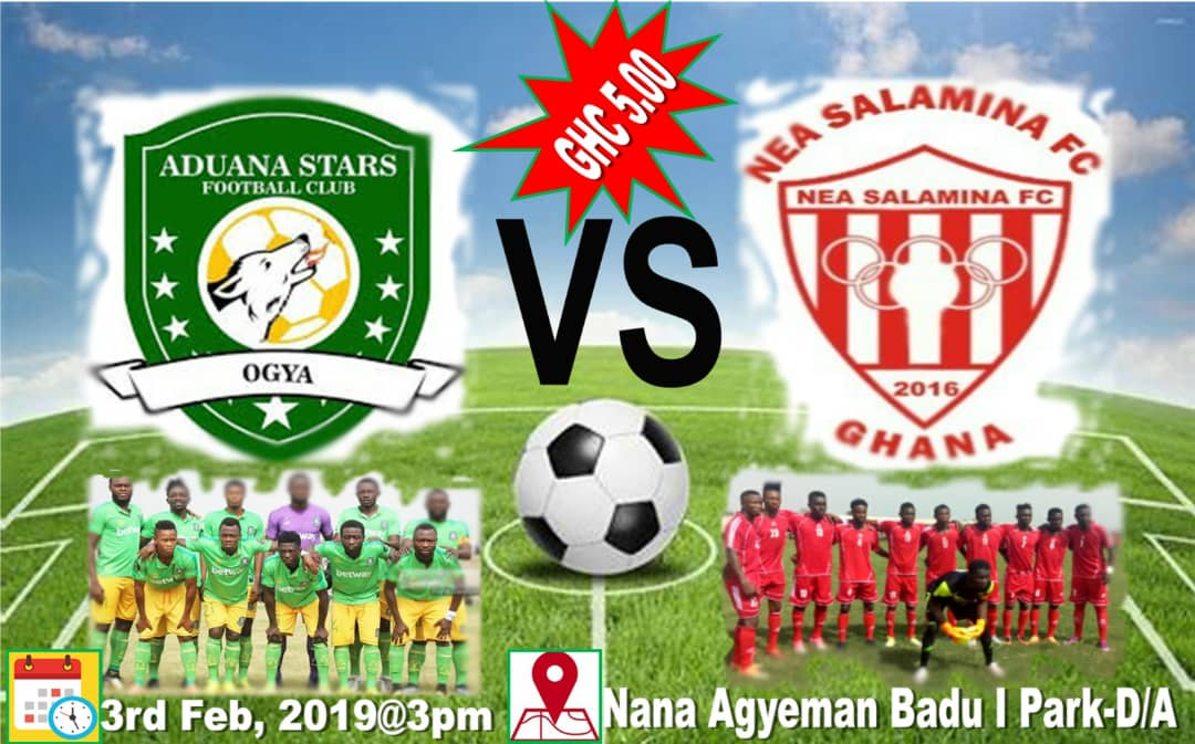 Aduana Stars to engage Divison One side NEA Salamina in friendly clash