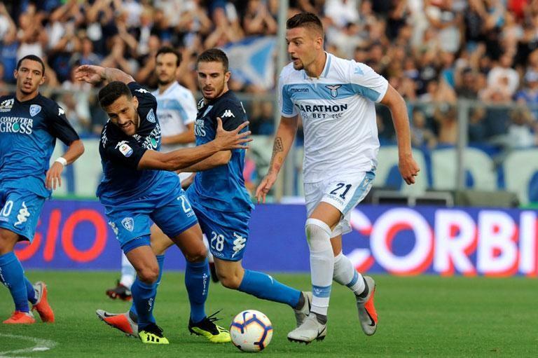 Milinkovic Savic, en el Lazio-Empoli.