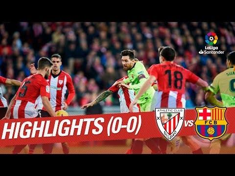 Highlights Athletic Club vs FC Barcelona (0-0)