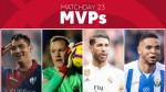 Who was the MVP of Matchday 23 in LaLiga Santander