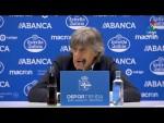 Rueda de prensa de Enrique Martín tras el RC Deportivo vs Nàstic (1-1)
