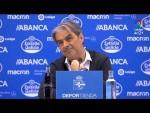 Rueda de prensa de José Ignacio González tras el RC Deportivo vs Nàstic (1-1)