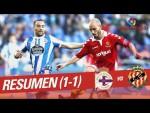 Resumen de RC Deportivo vs Nàstic (1-1)