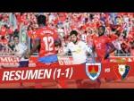 Resumen de CD Numancia vs CA Osasuna (1-1)