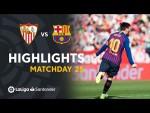 Highlights FC Barcelona vs Sevilla FC (2-4)