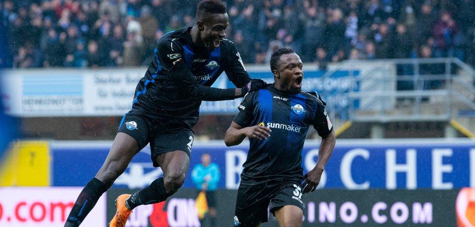 Ghana international Bernard Tekpetey bags 11th goal of the season as SC Paderborn defeat MSV Duisburg