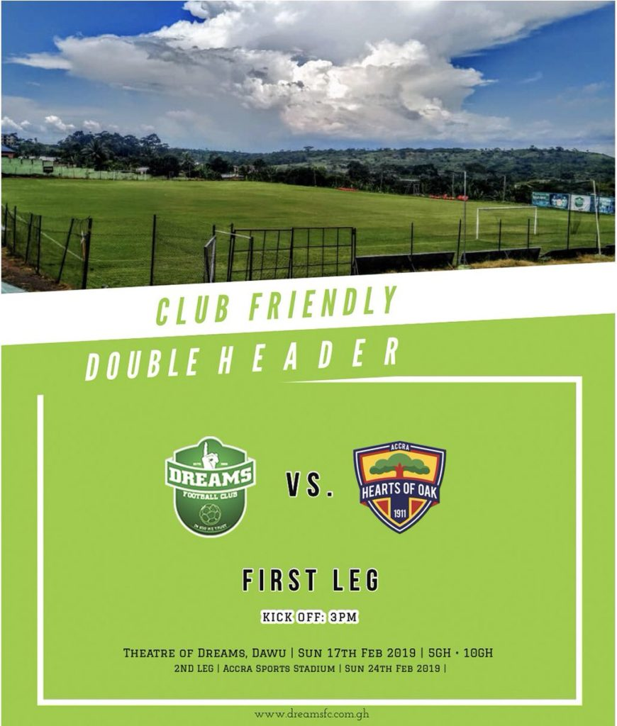 Latest News Header: Dreams FC Line Up Double Header Friendly Against Hearts Of