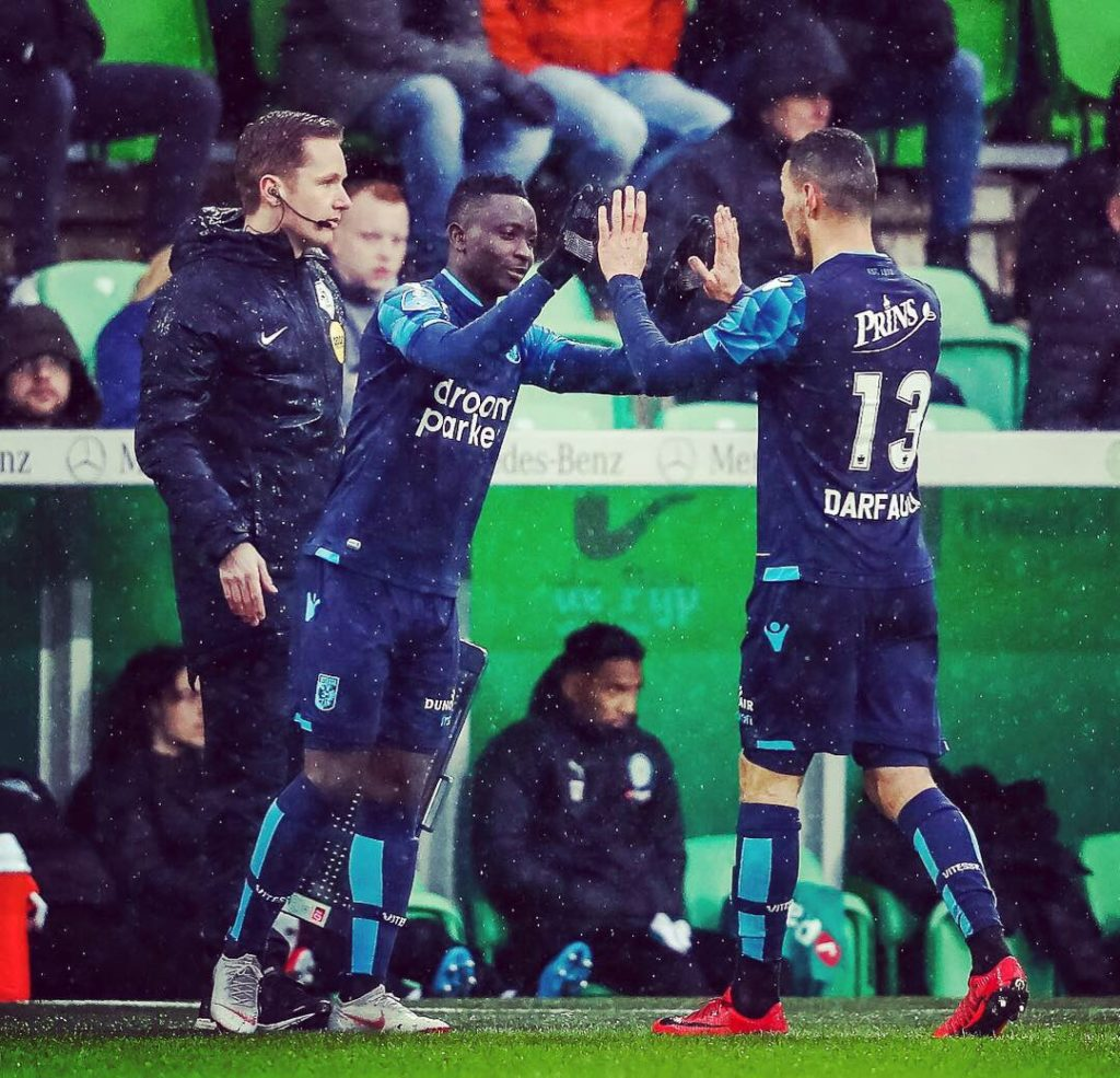 On-loan Mohammed Dauda happy to mark debut for Vitesse Arnhem