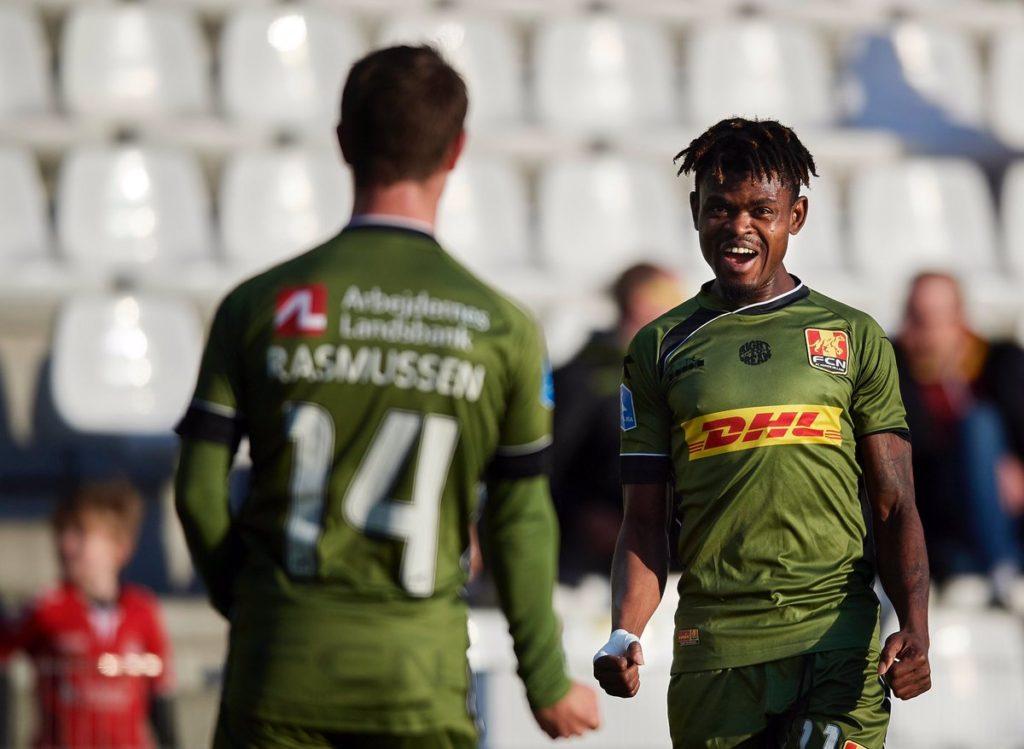 VIDEO: Godsway Donyoh tallies TEN goals in Danish Superliga as Nordsjaelland win big away