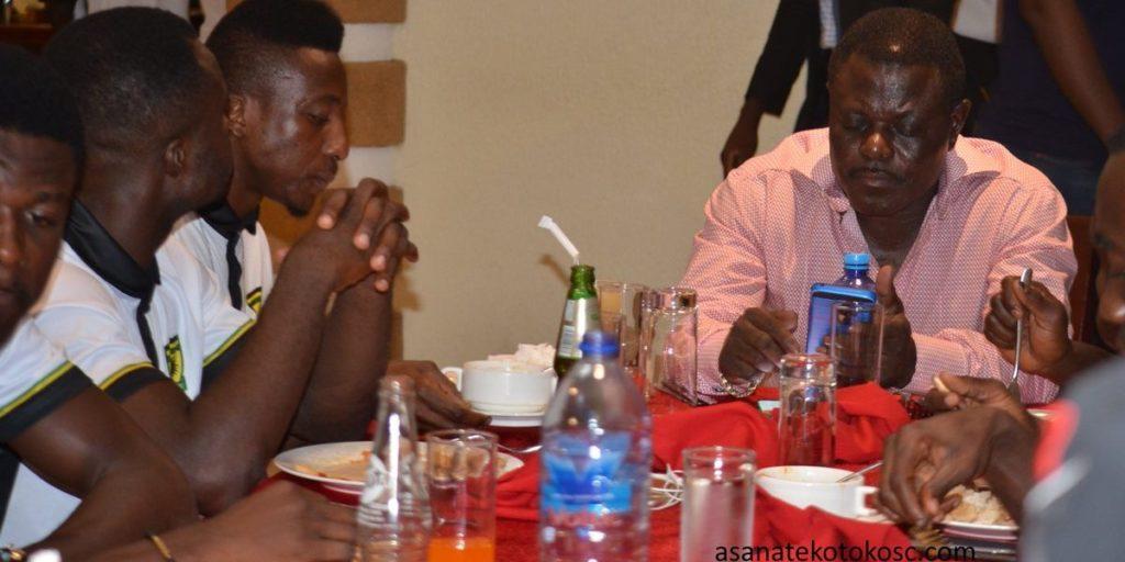 PHOTOS: Asante Kotoko boss Dr. Kwame Kyei invites players to dinner
