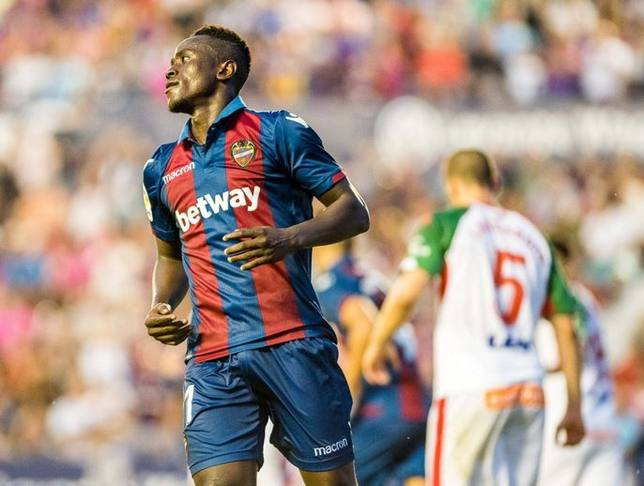 Levante sold forward Emmanuel Boateng for 11 million Euros to Dalian Yifang
