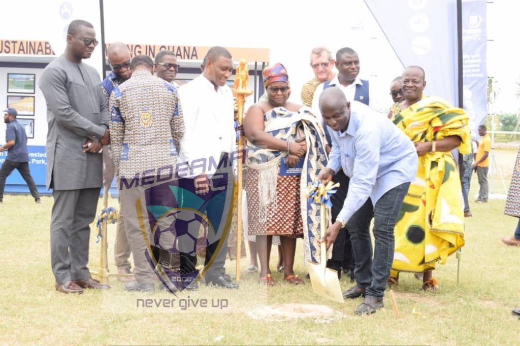 Sod cutting marks start of Medeama new stadium construction