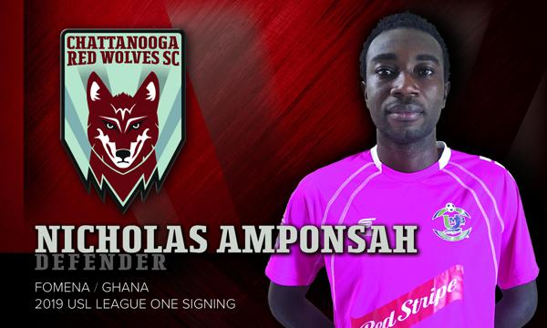 Ghanaian defender Nicholas Amponsah joins Chattanooga Red Wolves in USL