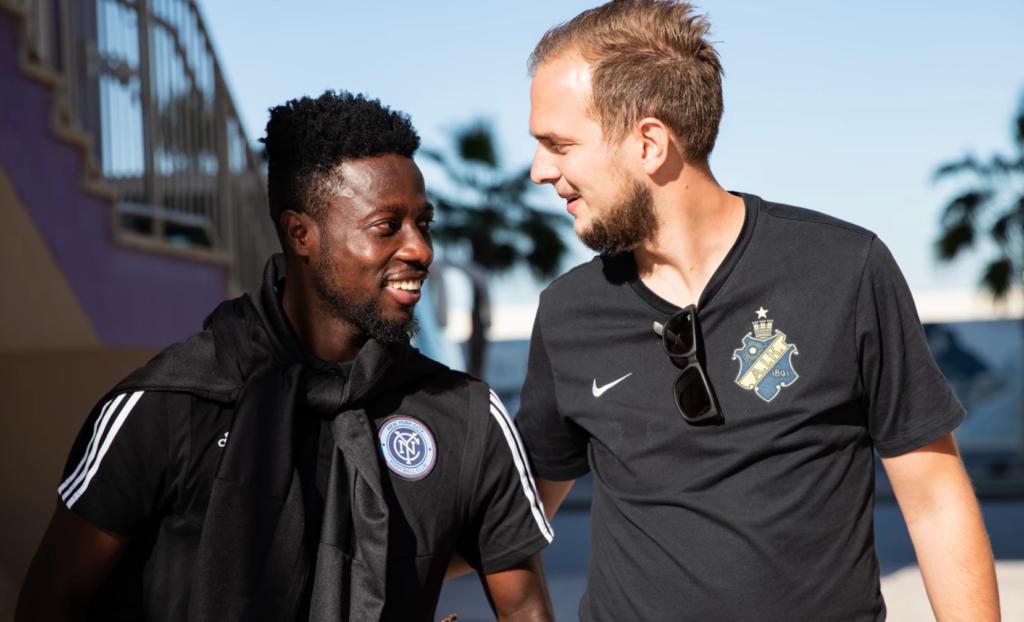 PHOTOS: Ebenezer Ofori plays in friendly against former club AIK; reunites with old friends