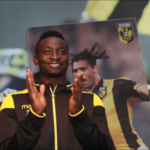 PHOTOS: Striker Mohammed Dauda interacts with fans of Vitesse Arnhem