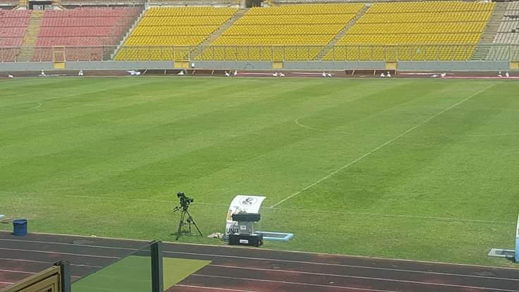 CAF Confederation Cup: Baba Yara Sports Stadium pitch sees massive improvement ahead of Kotoko-ZESCO United game