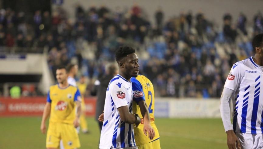 Winful Cobbina salvages point for FK Tirana against Luftetari Gjirokastra
