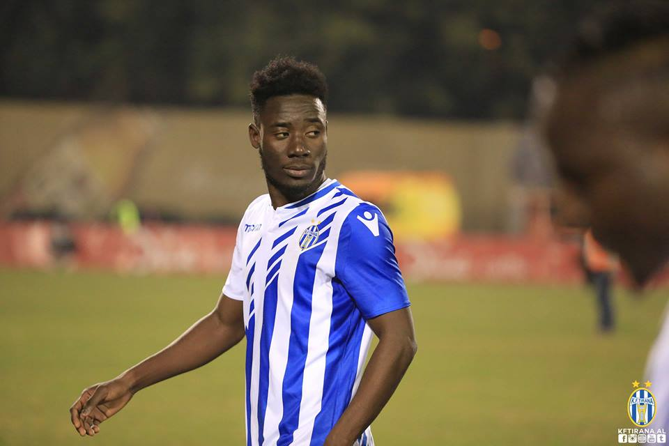 Ghanaian midfielder Cobbinah expected to join Albanian side Tirana on Monday after delays