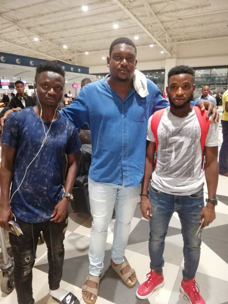 Mpong, Ashia depart for Iraq to begin new adventure with Iraqi side Darbandikhan SC
