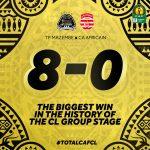 VIDEO: Watch TP Mazembe's historic 8-0 crushing of Derrick Sassraku's Club Africain